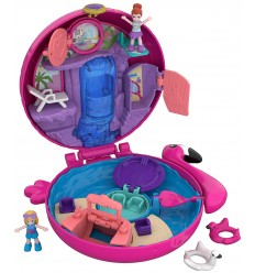 Polly-Pocket - Playset Pool of flamingos FRY35/FRY38 Mattel- Futurartshop.com