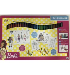 Barbie - Set con 60 pennarelli 35812 Ods-Futurartshop.com