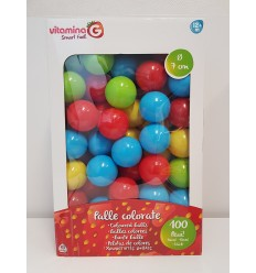 With pack of 100 colored balls 7 inches 06417 Globo- Futurartshop.com