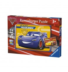 Puzzle cars 3 flash mcqueen 2x12 teile RAV07614 Ravensburger- Futurartshop.com