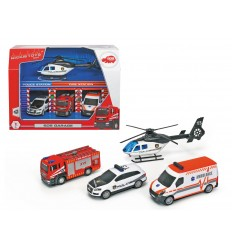 Sos garage with 4 emergency vehicles 203715009038 Simba Toys- Futurartshop.com