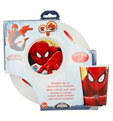 Set jelly PVC 3-piece spider-man for microwave 33450 Cerdà- Futurartshop.com