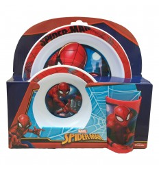 Set pappa in melamina 3 pezzi spider-man 6803876 Cerdà-Futurartshop.com