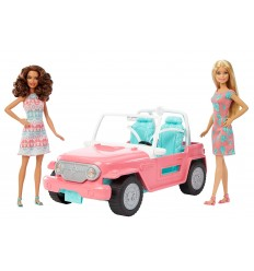 Barbie - Jeep for Barbie with 2 dolls FPR59 Mattel- Futurartshop.com