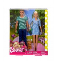 Barbie doll and Ken with puppy FTB72 Mattel- Futurartshop.com