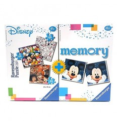 Lot de disney puzzle 3x49 plus de mémoire 91912 Ravensburger- Futurartshop.com