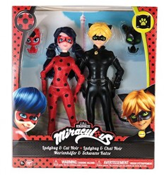 Miraculous pack 2 characters, lady bug and cat noir MRA16000 Giochi Preziosi- Futurartshop.com