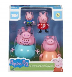 Peppa pig sets, family of 4 characters PPC27000 Giochi Preziosi- Futurartshop.com