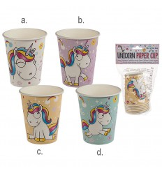 6 de Vidrio y de papel para fiestas, Unicornio OUT62/0809 Out of The Blue- Futurartshop.com