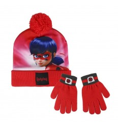 Set hat pompom gloves lady bug LB-2200002557 Cerdà- Futurartshop.com