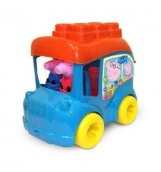 Peppa Pig - School bus Bucket with bricks CLE17248 Clementoni- Futurartshop.com