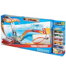 Hot Wheels Banan med 5 bilar X2586 Grandi giochi- Futurartshop.com