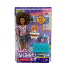 Barbie skipper babysitter doll brunette with cot FHY97/FHY99 Mattel- Futurartshop.com