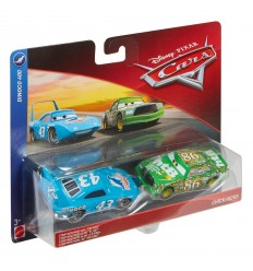 Cars 3 pack 2 cars-strip weathers aka the king and chick hicks DXV99/FLH60 Mattel- Futurartshop.com