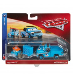 Cars 3 pack 2 cars-dinoco pitty and roger wheeler DVX99/FLH62 Mattel- Futurartshop.com