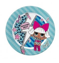 LoL Sorpresa, Platos, papel de 20 cm 8 piezas INT23172 Magic World Party- Futurartshop.com