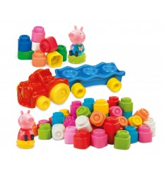 Peppa pig playset soft blocks train sets 17249 Clementoni- Futurartshop.com