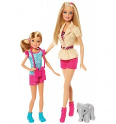Barbie e sorelline Safari Barbie e Stacie BDG25 Mattel-Futurartshop.com