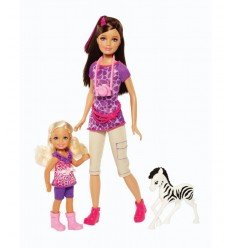 Barbie and girls Safari Skipper and Chelsea BDG26 Mattel- Futurartshop.com