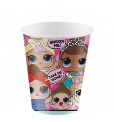 LoL Surprise - 8 bicchieri di carta da 256 ml INTU79116 -Futurartshop.com
