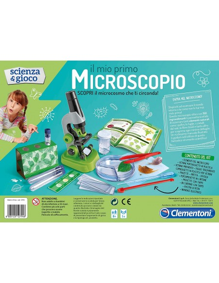 Clementoni - 12794 - my first microscope 12794 Clementoni- Futurartshop.com