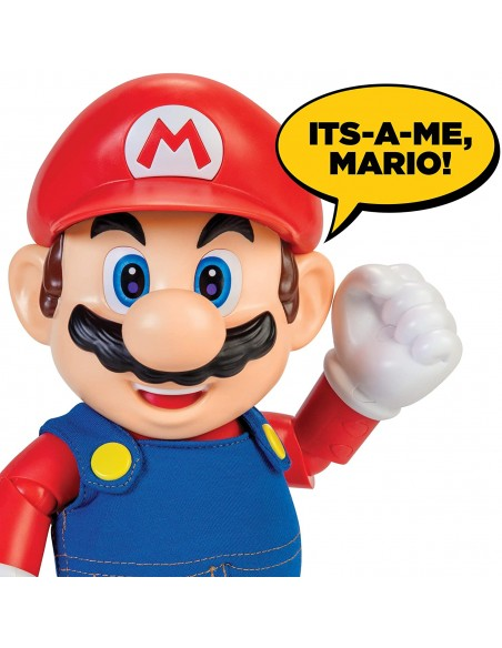 Super Mario Character speaking in the English language original 30 cm JAK40430 Jakks Pacific- Futurartshop.com