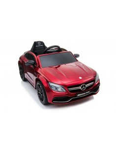 Electric car for kids Mercedes-Benz AMG C63 S coupe red metallic 12V LT896REDMETAL Linea Paggio- Futurartshop.com