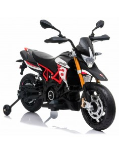 Electric motorcycle for kids Aprilia dorsoduro 900 black 12V LAM900 EVANERA Linea Paggio- Futurartshop.com