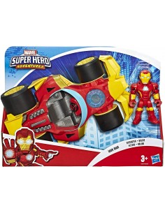 Super Hero Adventures Vehicle With Iron Man Speedster E6223EU41/E6257 Hasbro- Futurartshop.com
