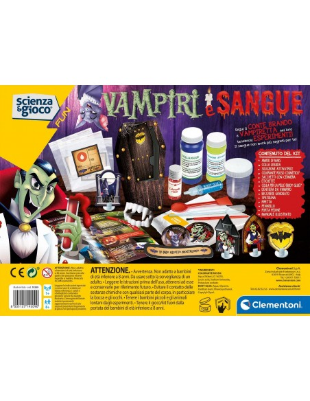 Science and Game - Vampires and Blood CLE19209 Clementoni- Futurartshop.com