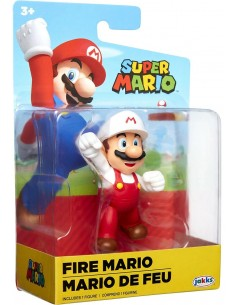 Super Mario Fire Mario with arm raised JAK40551 Jakks Pacific- Futurartshop.com