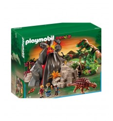 Playmobil 5230-volcano with Saicania and T-Rex 5230 Playmobil- Futurartshop.com