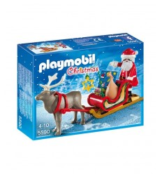 Playmobil sleigh with Santa Claus and reindeer 5590 Playmobil- Futurartshop.com