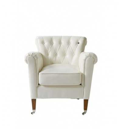 Riviera Maison White Chair With Wheels