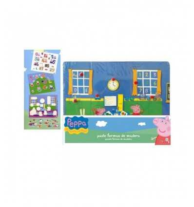 wooden puzzle pieces Peppa Pig